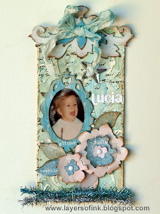 Shabby Chic Winter Tag
