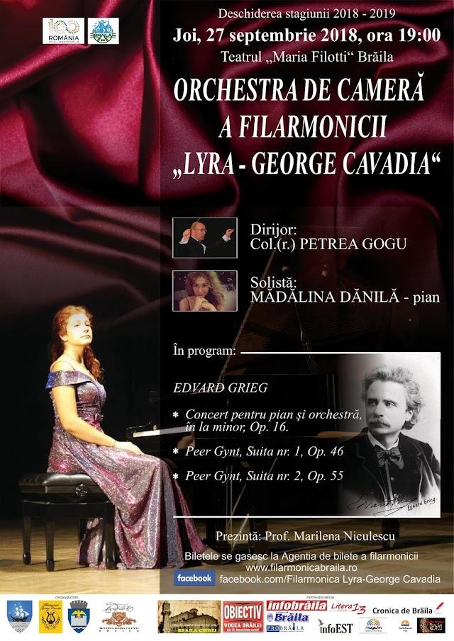 """Filarmonica """"Lyra-George Cavadia"""" Braila deschide stagiunea 2018 - 2019 cu un concert de exceptie"""