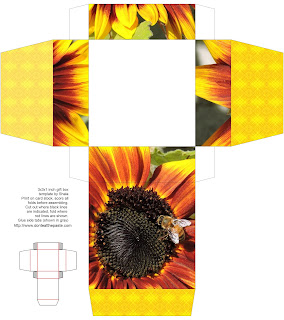 Printable sunflower and bee box
