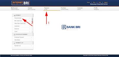 Cara Bayar IndiHome via Internet Banking BRI