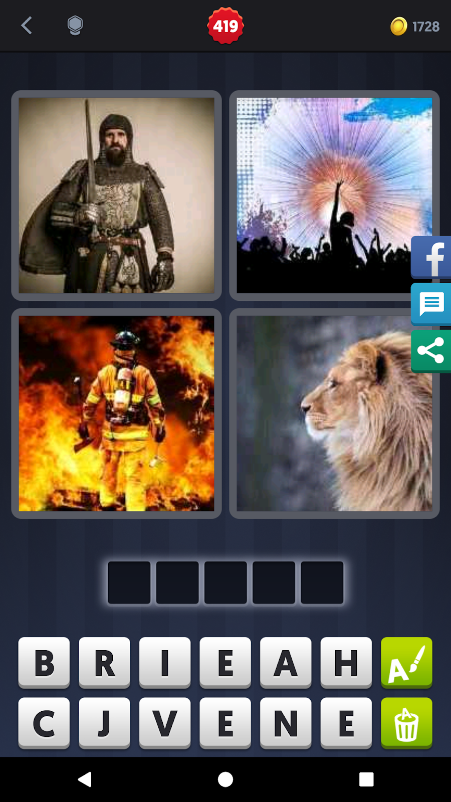 4 Pics 1 Word Answers Solutions Level 419 Brave
