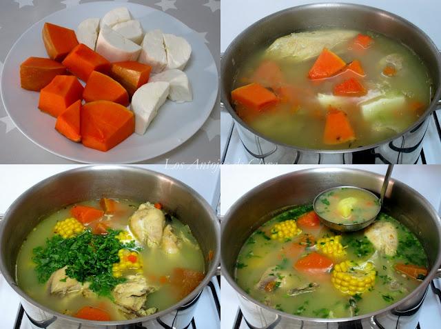 Receta sopa de pollo