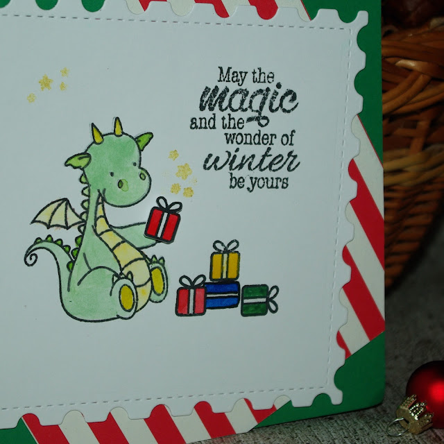 [DIY] Little Dragon wishes Magical Christmas  // Kleiner Drache wünscht magische Weihnachten