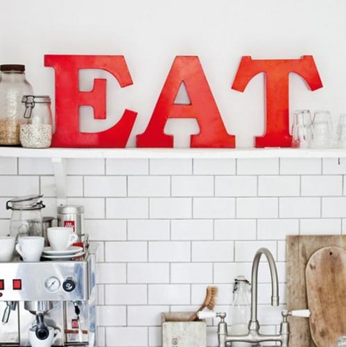 decoração  cozinha letras