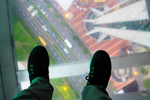Taking a shoefie in Macau Tower