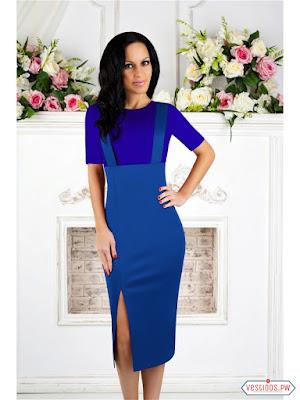 vestidos color azul originales