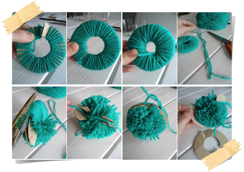 Mam 39 selle chocolat hacer pompones de lana con un kit - Para hacer pompones de lana ...