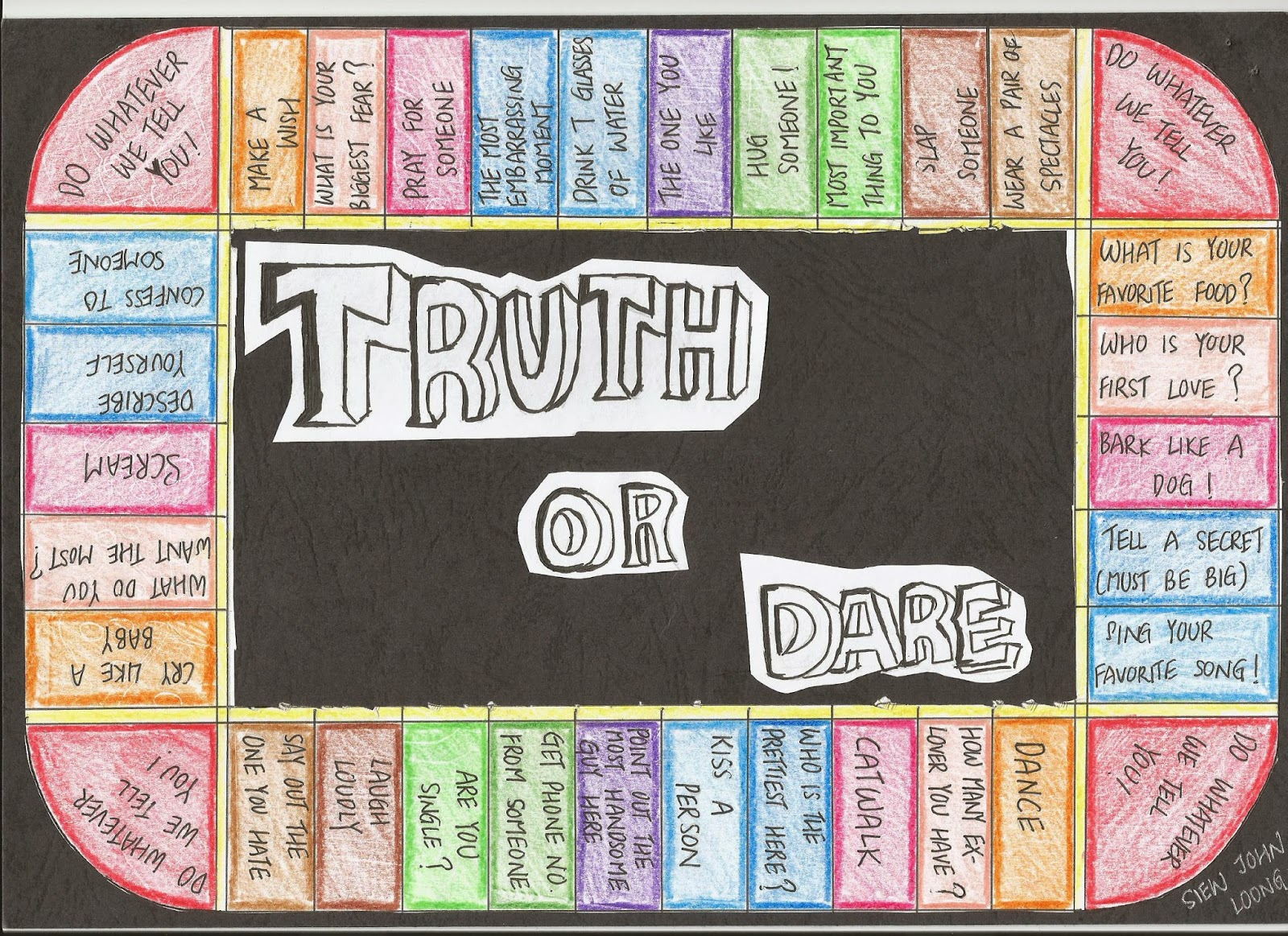 Image Result For Truth Or Dare Printable Board Games