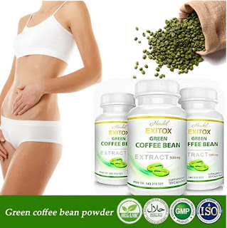 green coffee pelangsing, obat pelangsing green coffee, green coffee bean asli, exitox green coffe