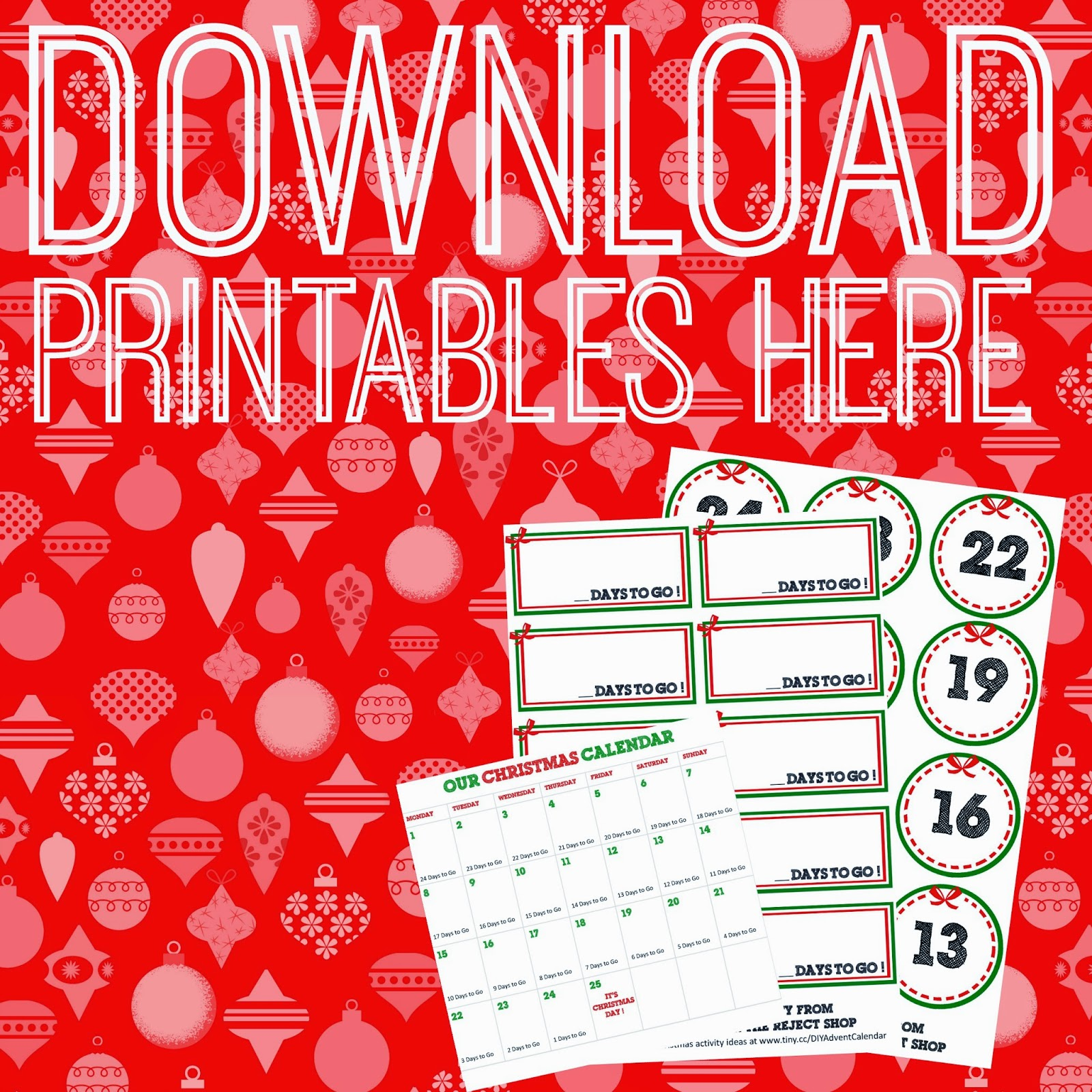 Free Advent Calendar Printables