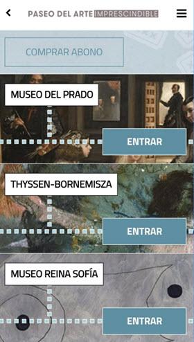 Nueva app móvil 'Paseo del Arte imprescindible' de llos museos Reina Sofía, el Prado y el Thyssen
