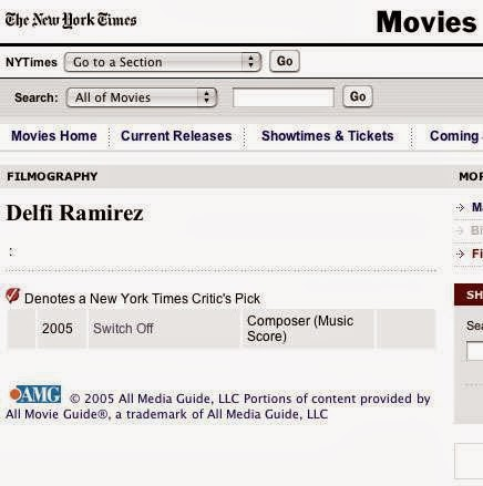 Delfi Ramirez, composer. New York Times 2005