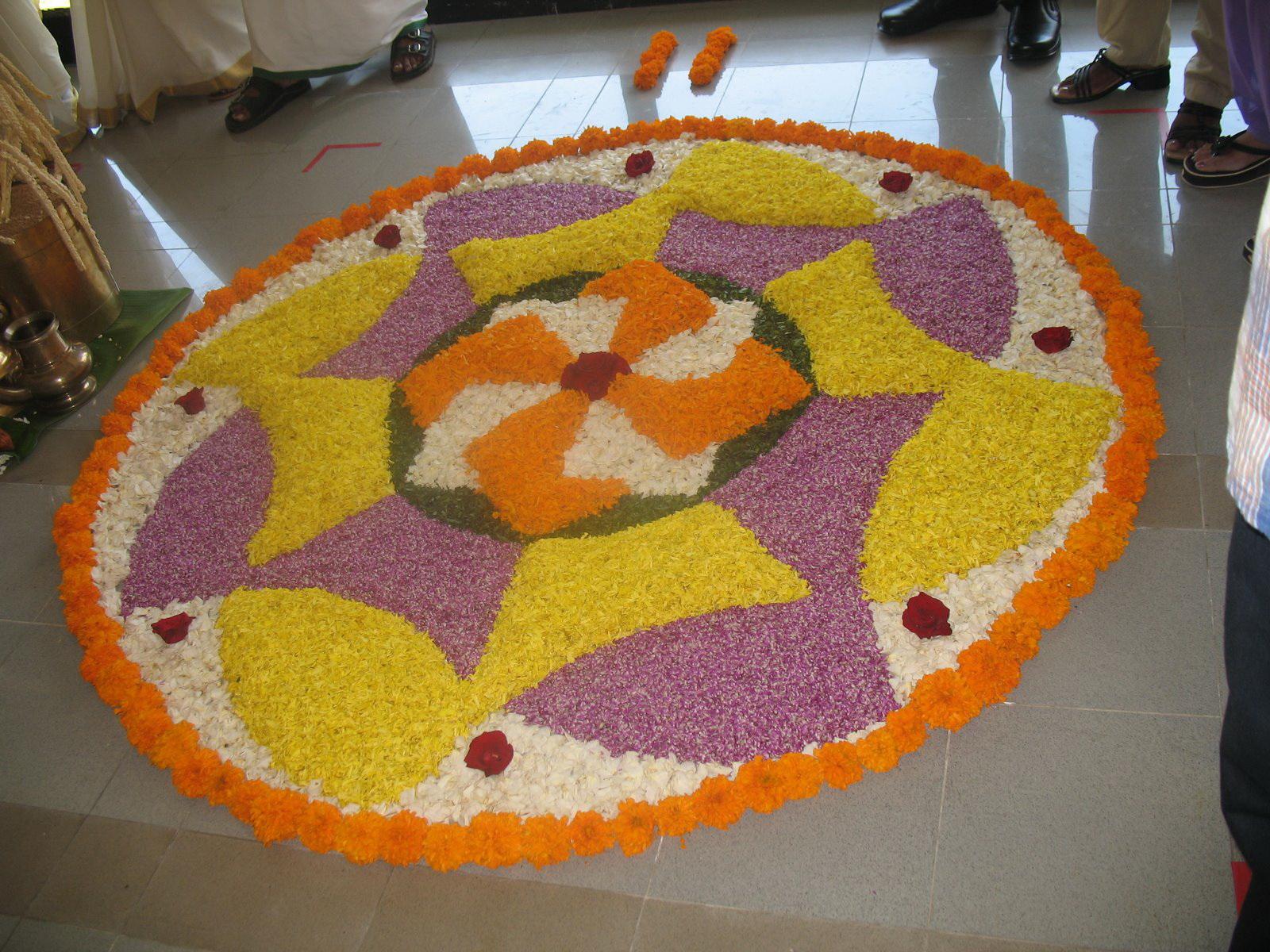 Onam Pookalam Floral Designs 2017   Hindu Devotional Blog