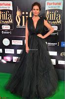 Esha Gupta in a Deep Neck Sleeveless Dark Green Gown at IIFA Utsavam Awards 2017     51.JPG