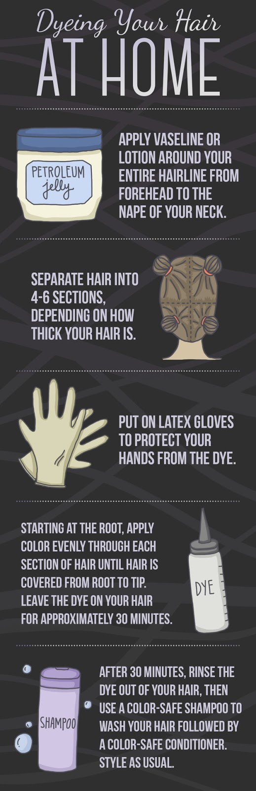 what to do when you want to touch up your hair dye at home