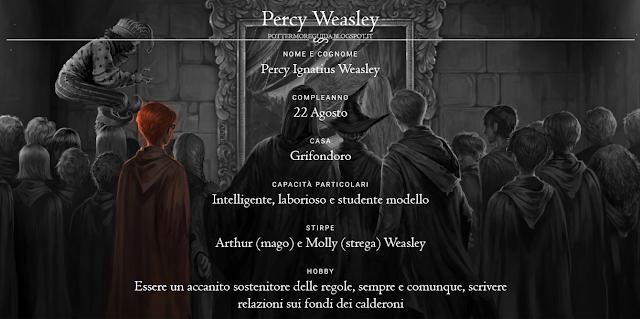 Scheda di Percy Weasley