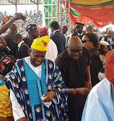 Photo Fayose at Akeredolu's Swearing In