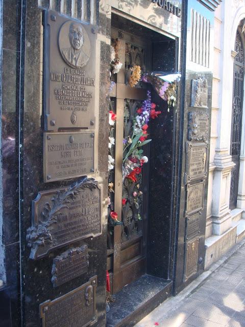 Mausoléu onde está Evita Péron - Cemitério da Recoleta - Buenos Aires