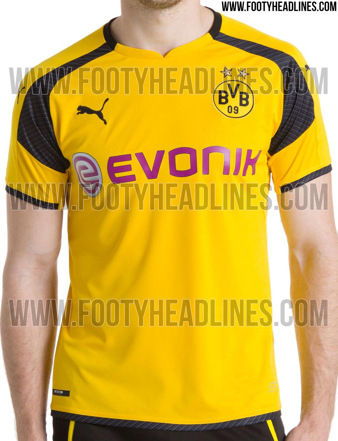borussia dortmund 16 17 champions league trikot geleakt. Black Bedroom Furniture Sets. Home Design Ideas