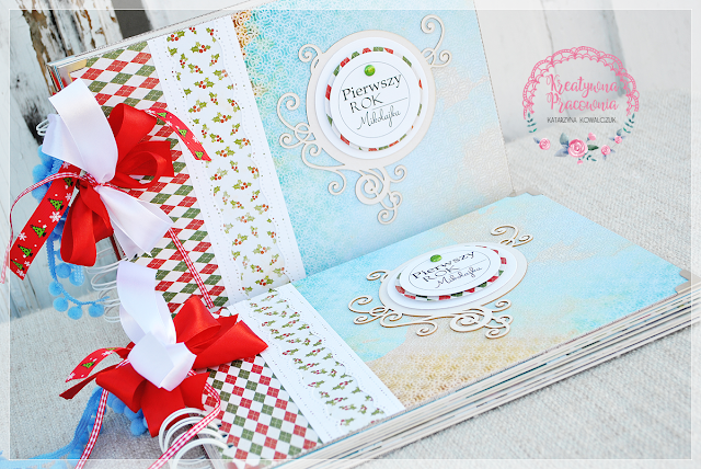 album świąteczny scrapbooking, handmade
