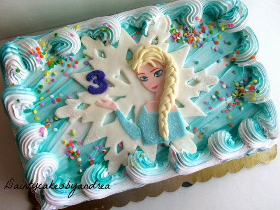 Elsa Is Loved By Every Little Girl And Not Only But A Beautiful Easy To Do Frozen Birthday Cake Topper Can Save So Tasty Homemade