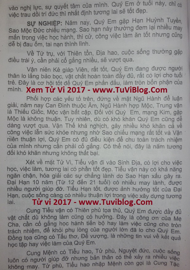 Xem tuoi Canh Thin 2000 nam 2017