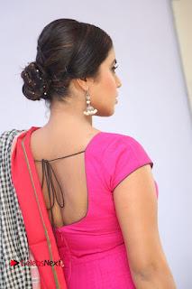 Actress Poorna Pictures in Red Salwar Kameez at Jayammu Nischayammu Raa Teaser Launch  0023