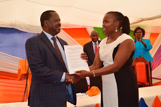 Raila Odinga welcomes all leaders from West Pokot county. PHOTO | Courtesy