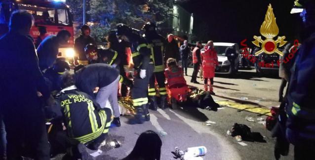 Χάος στην Ιταλία: Ποδοπατήθηκε κόσμος σε κλαμπ - 6 νεκροί και πάνω από 100 τραυματίες (βίντεο)