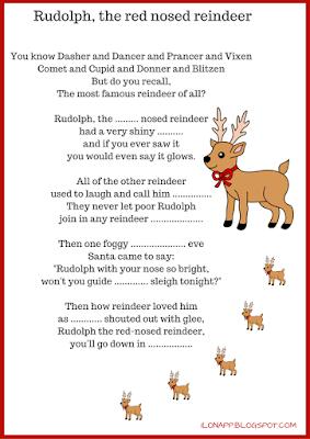 CHRISTMAS SONGS -  GAP-FILL EXERCISES