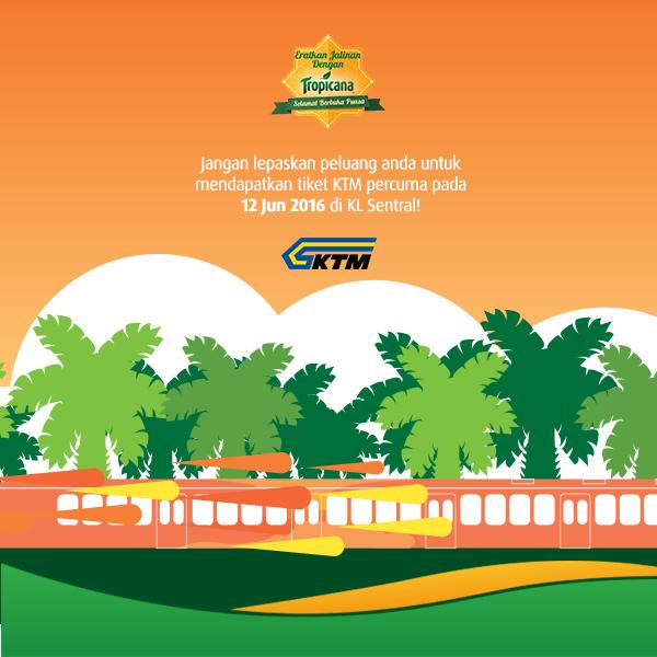 1,000 tiket KTM intercity dan ETS percuma dari KL Sentral ke Utara, Selatan, dan Pantai Timur
