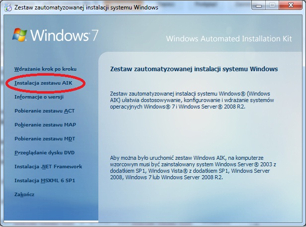 Informatyczne życie X Tworzymy Instalkę Windowsa 7