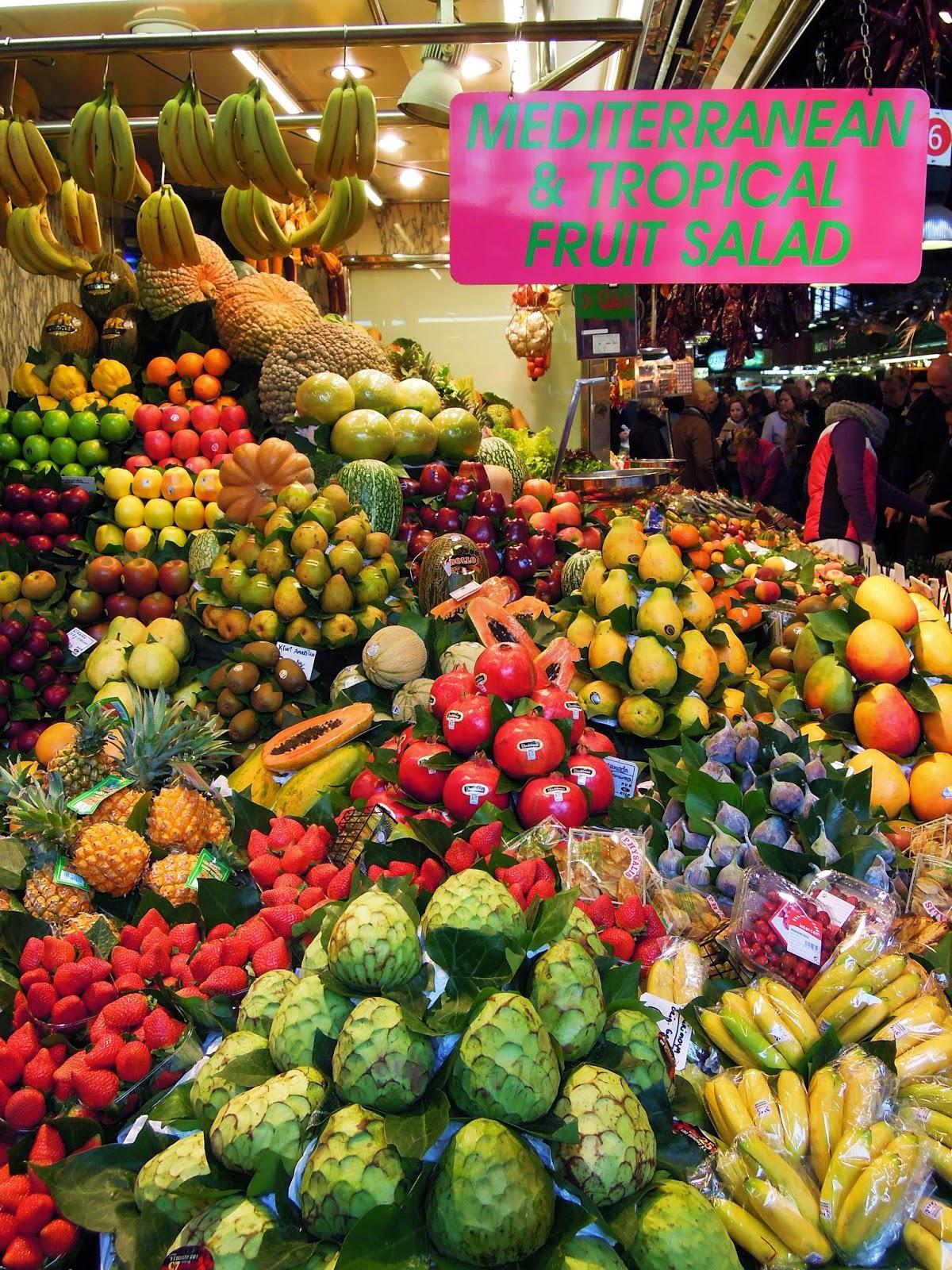 Frutta al Mercato de La Boqueria