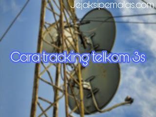 Cara mudah tracking satelit telkom 3s menggunakan 2 lnb