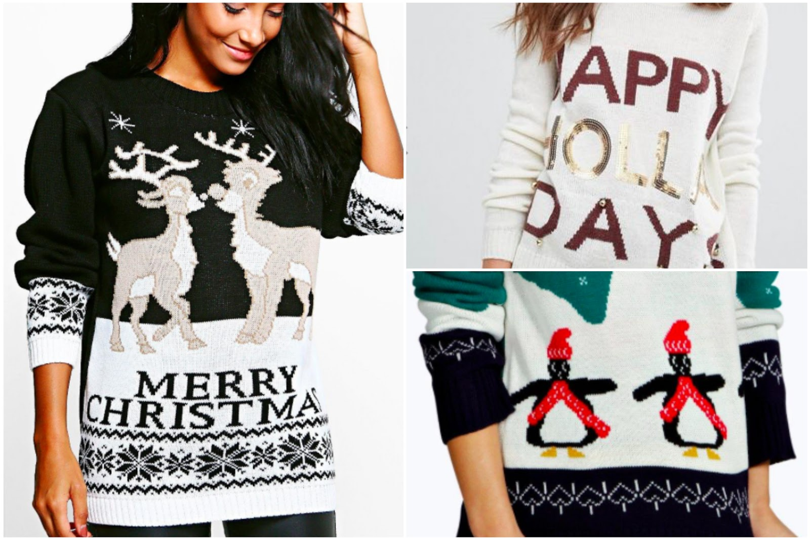 Christmas Jumpers from Asos, Primark and Boohoo