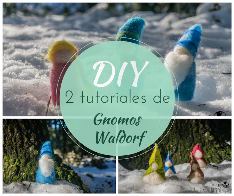 tutorial gnomos waldorf patron gratis video