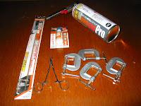 銀蝋継に必要な材料と部品