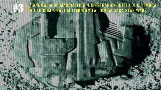 A anomalia do Mar Báltico, um estranho objeto que  lembra muito com a nave Millennium Falcon da saga Star Wars.
