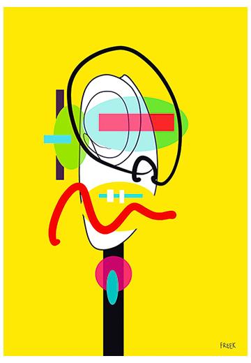 art print, artwork, buy art print, contemporary art print, original art print, abstract art print, portrait art print, large art print, modern art print, multi coloured art print, Sam Freek,geometric,