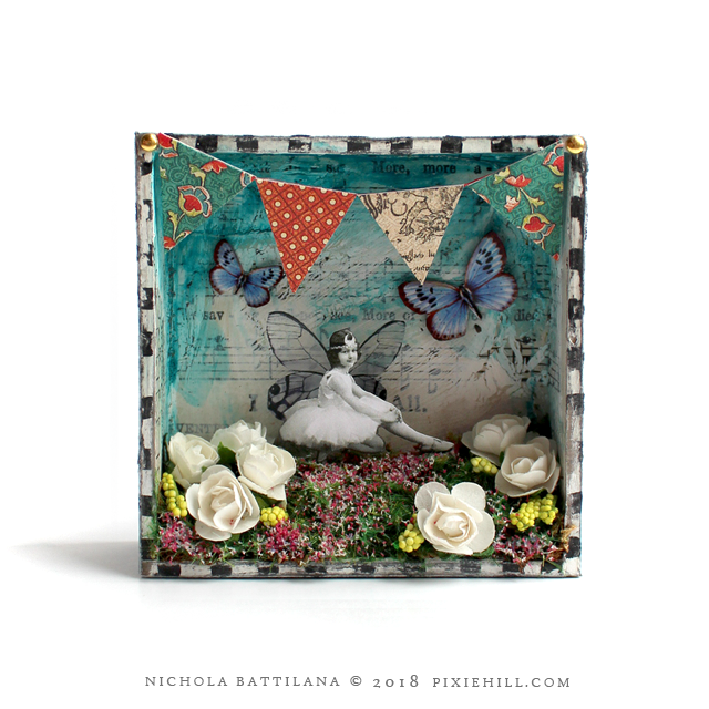 Tiny Paper Fairy Shrines - Nichola Battilana pixiehill.com