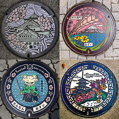 Tampas de bueiro do Japão