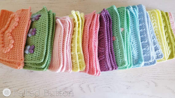 Crochet Pattern Tester Call by Susan Carlson of Felted Button -- Colorful Crochet Patterns