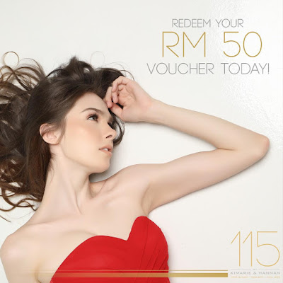 115 by Kimarie & Hannan Free Cash Voucher RM50 Discount Promo