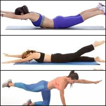 Ejercicios de tonificación de de músculos dorsales