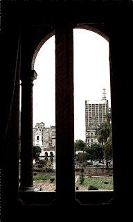 Cabildo Visto da Casa Rosada, em Buenos Aires