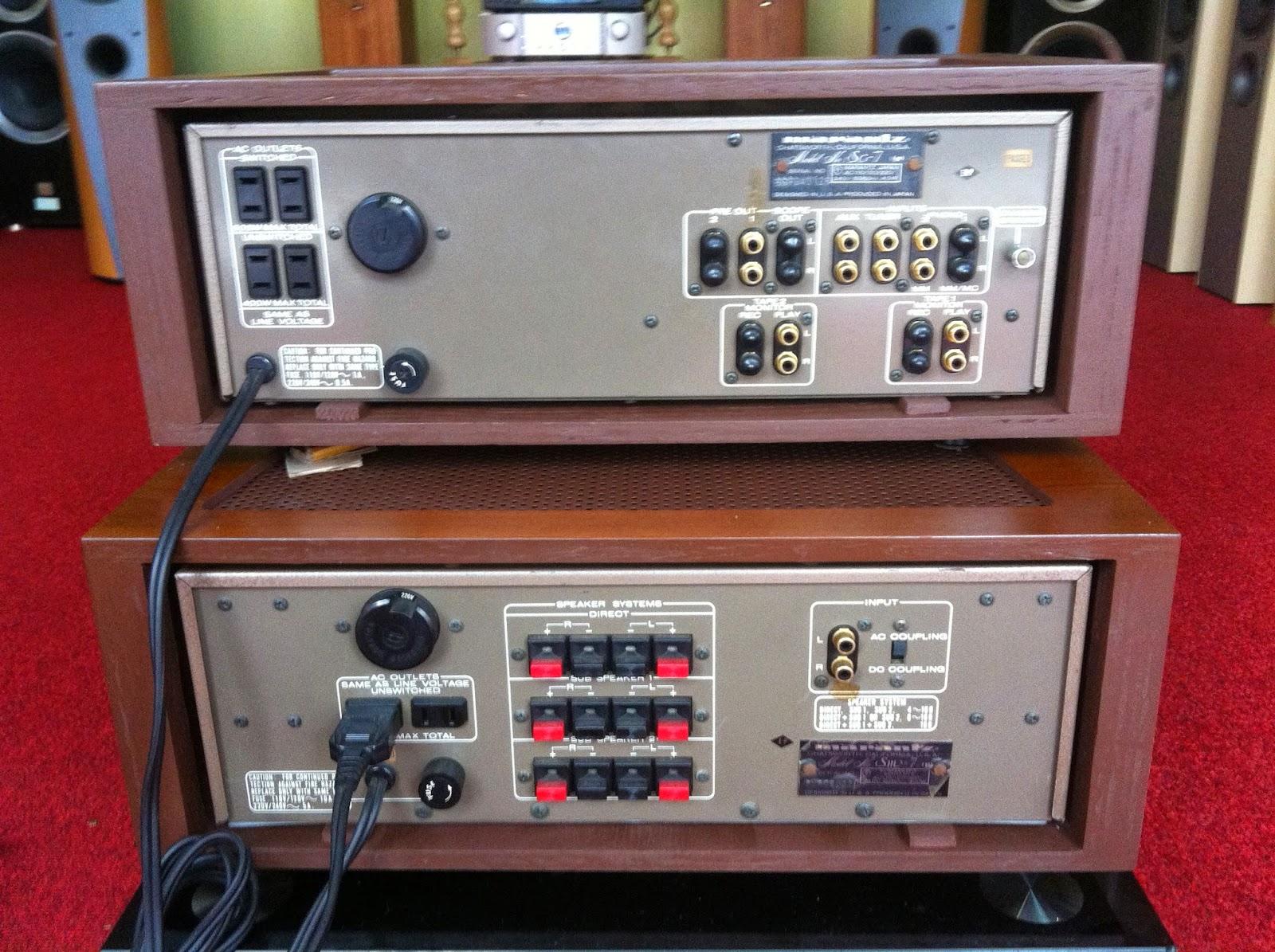 Mặt sau cặp amply Marantz SC-7&SM7