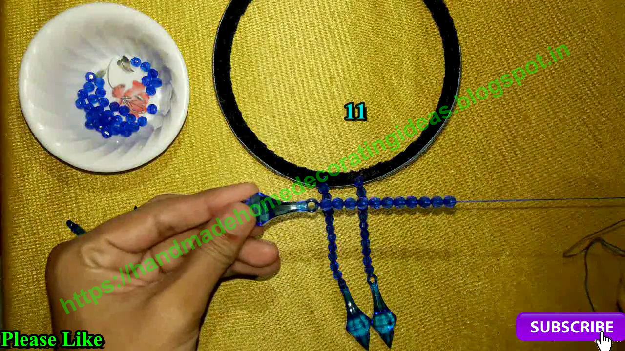 Home Decorating Ideas: How To Make Jhumar At Home | Beaded ...