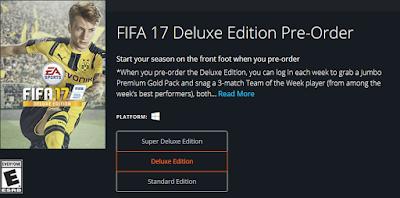 Pre-Order FIFA 17