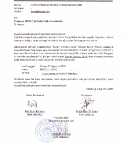Contoh Surat Permohonan Menjadi Pemateri / Pembicara Acara Seminar / Diklat