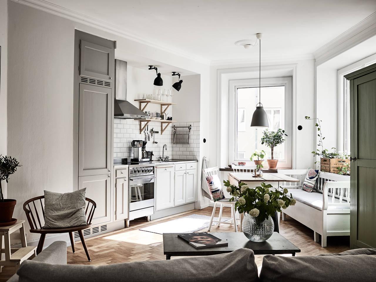 Integração de cozinhas às salas de estar: escolhendo as cores ...